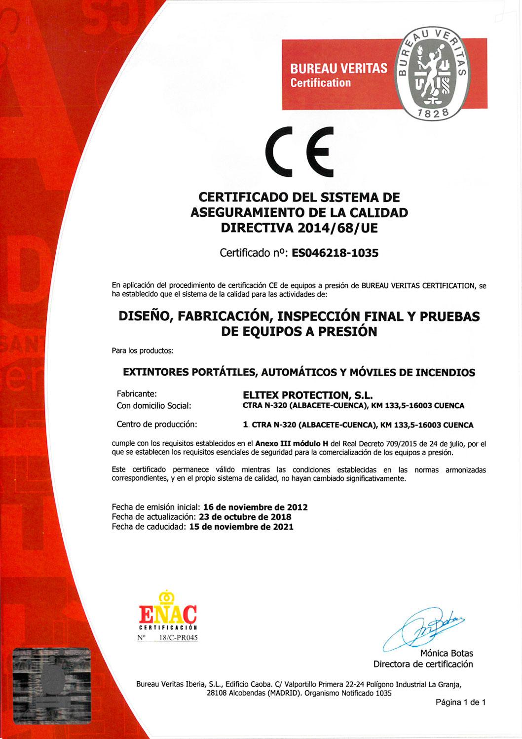 Certificado CE Español
